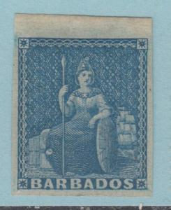 BARBADOS 2A BLUE MINT HINGED OG *  NO FAULTS EXTRA FINE