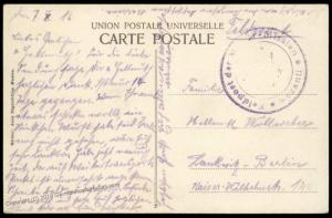 Germany WWI 1916 BOSANTI Turkey Military Mission Cover Feldpost 82723