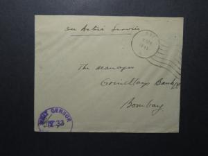 India 1945 Forces Cover / APO 593 / Censored (III) - Z12426