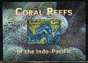 TUVALU   CORAL REEFS SHEET & SOUVENIR SHEET MINT NH