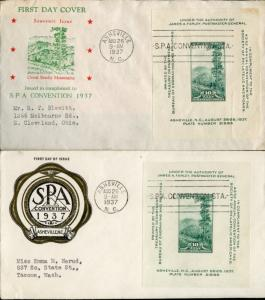 #797-28 2 DIFF FDC HOLLAND & RICE CACHET BN2736