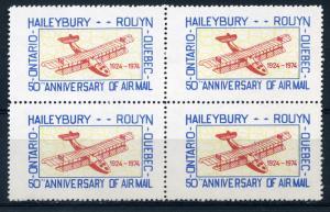Haileybury-Rouyn - Cinderella MNHOG Block of 4