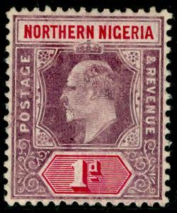 NORTHERN NIGERIA SG21a, 1d dull purple & carmine, VLH MINT.