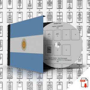 ARGENTINA STAMP ALBUM PAGES 1858-2011 (506 PDF digital pages)