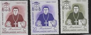 CURACAO, 269-271, MINT HINGED, MSGR. MARTINUS J. NIEWINDT
