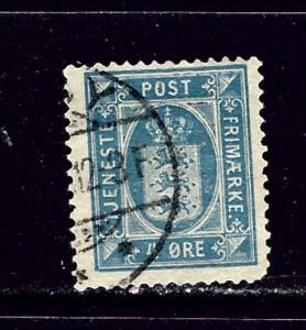 Denmark O18 Used 1916 issue rounded corner