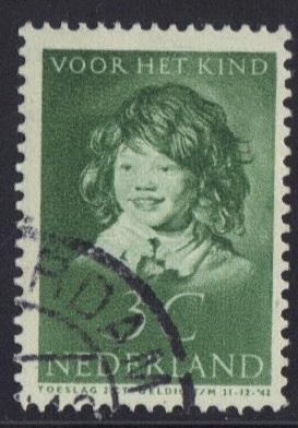 Netherlands  1937 used child welfare  3 ct  #
