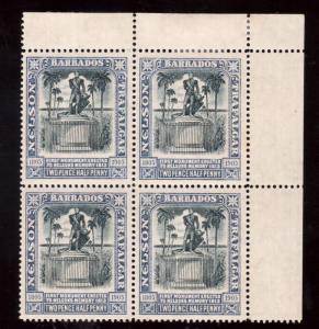 Barbados #112a (SG #162a) XF Mint Indigo & Black Block