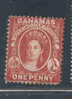 Bahamas Sc 16 1863 1 d vermilion Victoria stamp mint