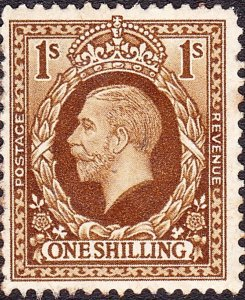 GREAT BRITAIN 1936 KGV 1/- Bistre Brown SG 449 MH