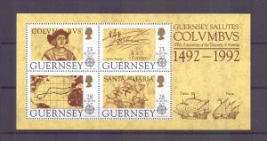 Guernsey 1992 MNH Europa  sheet Columbus         vepv