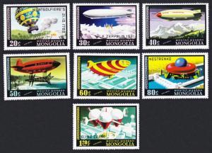 Mongolia Airships and Balloons 7v SG#1099-1106 SC#C93-C99