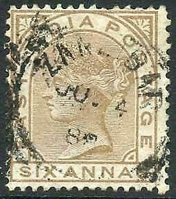 Zanzibar SGZ60 6a Pale Brown Z5 Squared Circle dated 4th June 1888