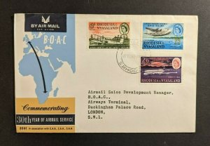 1962 South Rhodesia First Flight Cover to London England BOAC Comet