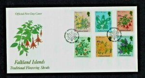 Falkland Islands:1995 Flowering Shrubs,  First Day Cover