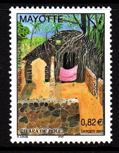 Mayotte MNH Scott #191 82c Ziyara de Pole