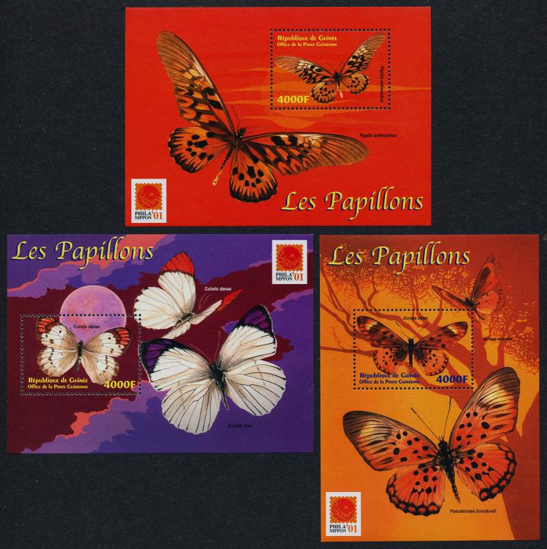 Guinea 1978-80 MNH Insects, Butterflies
