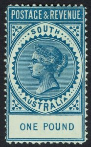 SOUTH AUSTRALIA 1886 QV POSTAGE & REVENUE 1 POUND PERF 11.5 - 12.5
