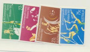 Australia Scott #842 To 845, Commonwealth Games Issue From 1982 - Free U.S. S...