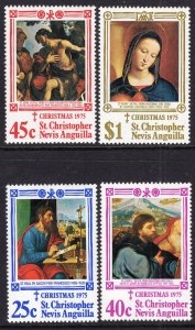 St Kitts Nevis 312-315 Christmas MNH VF