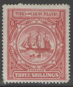 TURKS & CAICOS ISLANDS SG109 1900 3/= LAKE MTD MINT