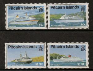 PITCAIRN ISLANDS SG395/8 1991 CRUISE LINERS MNH