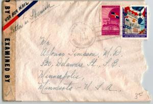 Dominican Republic 1944 Censor Cover to USA - Z13634