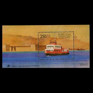 PORTUGAL 1989 - Scott# 1781 S/S Riverboat NH