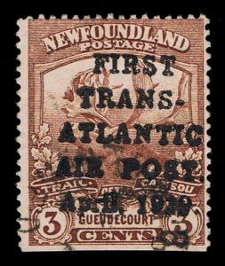 REFERENCE NEWFOUNDLAND SCOTT #C1 USED READ .YELLOW LISTING - IF GENUINE $16,000