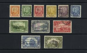 CANADA 1928 KING GEORGE V SCROLL ISSUE - SCOTT 149 TO 150 - USED