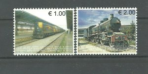 Kosovo  2007  TRAINS  Railways of Kosova SET MNH