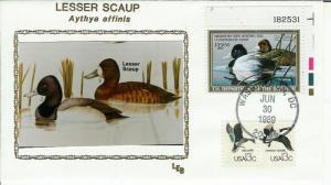 Migratory Duck Hunting Stamp by LEB RW56 Lesser Scaup Plate # Single!