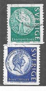 Sweden #2319-2320 Coins  (U) CV $1.40