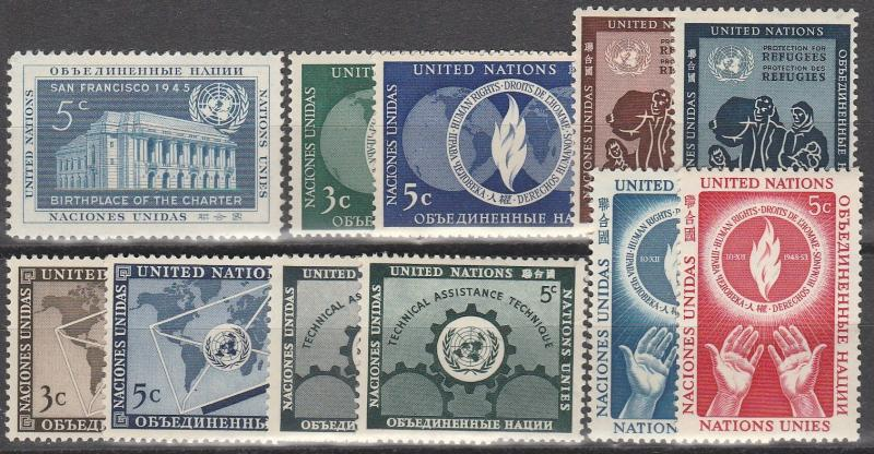 United Nations #12-22 MNH  CV $5.95  (A6607)