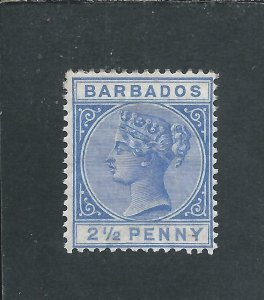 BARBADOS 1882-86 2½d ULTRAMARINE MM SG 93 CAT £120