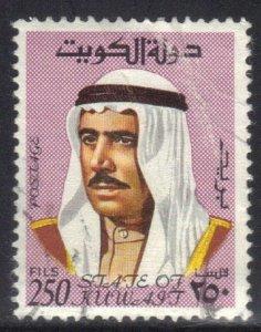 KUWAIT  SCOTT# 473 **USED**  1969-74  250f  SHEIK SABAH  SEE SCAN