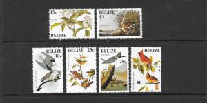 Birds - Belize #750-755 MNH
