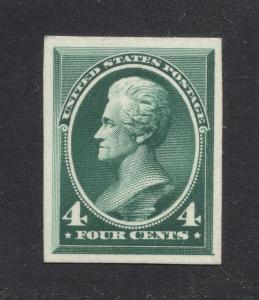 #211P-4 Green -  Engraved Plate Proof on Card