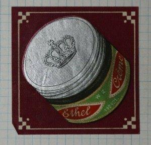 Ethel Shoe Creme Crown on Jar German Brand Poster Stamps Ads
