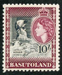 Basutoland SG 53 1954 10/- (the top value) U/M