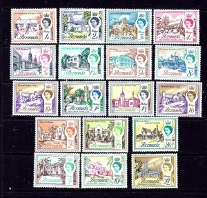 Bermuda 175-91 MNH 1962-65 Definitive set
