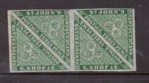 Newfoundland #11a Very Fine Mint Lightly Hinged Rare Block