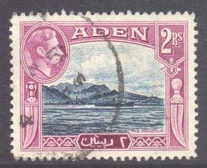 Aden Scott 25 - SG25, 1939 George VI 2r used