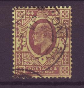 J13977 JLstamps 1902-11 great britain used #132 king $19.00 scv