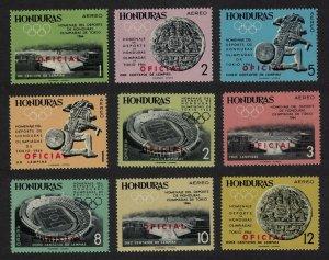 Honduras Olympic Games Tokyo 9v Ovpd OFFICIAL 1965 MNH SG#O650-O658