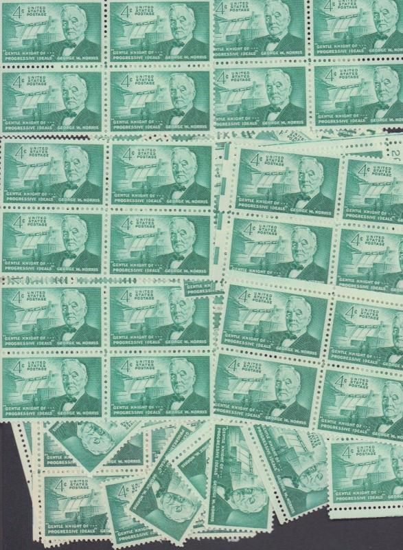 {BJ Stamps} 1184  George W. Norris---Senator  100 4 cent  stamps. Issued in 1961