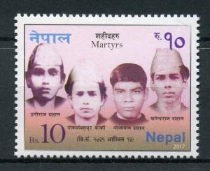 Nepal 2017 MNH Martyrs 1v Set Stamps