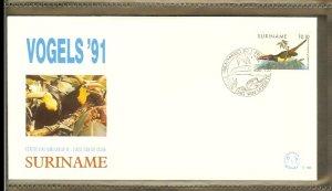 1991 - Rep. Surinam FDC E145 - Fauna & Animals - Birds - Tropical birds [LN018]