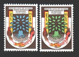 Guinea. 1960. 42-43. Refugees immigration policy. MNH.