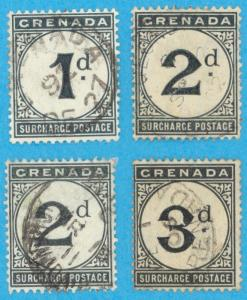 GRENADA J1, J2, J9 & J10 POSTAGE DUES * NO FAULTS VERY FINE !